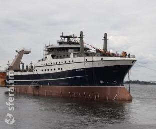 Морозильный рыболовный супертраулер «Механик Сизов» запущен в работу